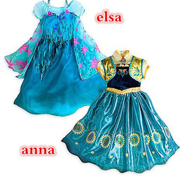 Wholesale 2015 Summer Girls Frozen Dresses Girls Elsa New Cartoon Dresses Anna dress Cinderella movie cosplay costumes baby girl priness dresses