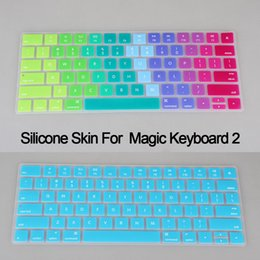 Wholesale-Silicone US English alphabet Keyboard Cover Protector Skin for Apple New Magic Keyboard 2 MLA22B A