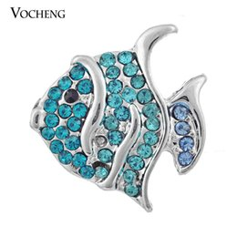 Wholesale Vocheng NOOSA DIY Noosa Jewelry Accessory Tropical Fish Chunk Snap Button Jewelry Vn