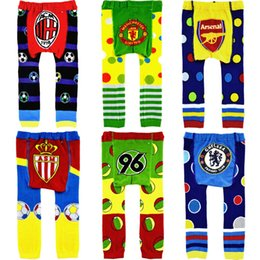 Wholesale Football Baby Pants Busha ACE Infant Leggings ASM Boys Clothes Baby Trousers PP Leg Warmers Elastic Waist