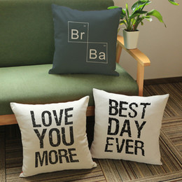Wholesale-Soma Pillow Letters Graphics Pattern Print Home Decorative Throw Pillow Case Cushion Pillow Cover