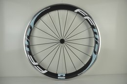 Wholesale New ciel color FFWD C mm clincher rim Road bicycle carbon fibre bike wheelset with alloy brake surface aero spoke Free ship
