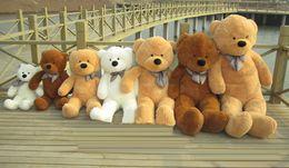 Wholesale-Hot Sale 100CM Cotton Giant 100cm Cute Plush Teddy Bear Huge Soft TOYS 5 Colors Valentine's Christmas Gift