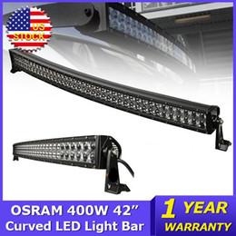 Lumière extérieure OSRAM 400W 42 pouces incurvé LED Light Bar 4x4 Combo faisceau dirigé les travaux camions légers Wagon ATV SUV 4WD DC12V / 24V Offroad Led Light Bar 42 led light bars for sale à partir de 42 barres lumineuses dirigées fournisseurs