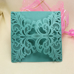 Wholesale Tiffany marriage invitations laser cut hollow festival greeting cards customized blessing card