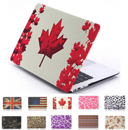 Wholesale Leopard Flag Flower Glow Matte Cover Case Beautiful Smart Shell Case For Macbook Air Pro Retina inch Laptop Ultra thin and Ligh