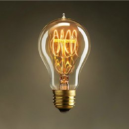 Wholesale A19 Incandescent Bulb Vintage Light Bulb Edison Bulbs Fixture E27 Bulbs V W Bulb Lights Antique Bulbs Edison Antique Pendent Lamp Bulbs