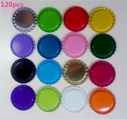 Wholesale New arrival Two side colored inch flattened bottle caps diy hairbow hair bows necklace accessories mix colors