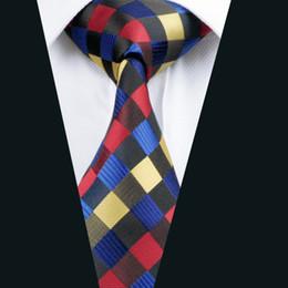 Mix Color Plaid Necktie for Men Jacquard Woven Silk Tie Business Party 8.5cm Width Necktie D-0423