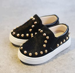 New style kids shoes girls boys shoes fashion rivet single shoes kids cool leopard loafers kids casual shoes girls boys