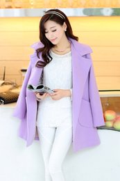 2015 New Warm coat for womens Autumn & winter fashion Korean style doulbe breasted Cape woolen coats outerwear S M L XL
