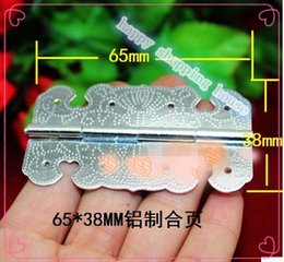 Wholesale 20pcs Furniture supplies Hardware accessories MM MM aluminium gift jewelry box engraved stainless steel hinges fixed lac