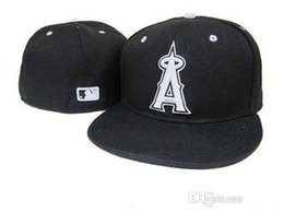 Wholesale MLB Anaheim Angels Baseball Cap D Embroidery Logo Cooperstown Fitted Hats Adult Fit Cap