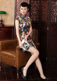 Free shipping Velvet cheongsam dress Womens traditional Cheongsam Dress Qipao Oriental dress national trend dress 2 Style TD0012