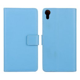 For Sony Xperia Z4 Texture Genuine Leather wallet Case Cover