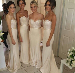 2019 Sweetheart Long Sleeveless Bridesmaid Dresses Cheap Sequins Zipper Back for Party Special Occasion Maid of Honor Dress