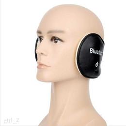 Women Men Winter Warm Leather Wireless Bluetooth Earmuff Stereo Speaker With MIC Outdoor Earphone Headphone Headset black