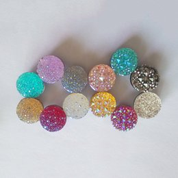 Wholesale 12Pcs Round Magnet Inlay Rhinestones Elegant Magnet Brooch Hijab Accessories Muslim Pin Hijab Scarf Buckle Fine Classic Fashion