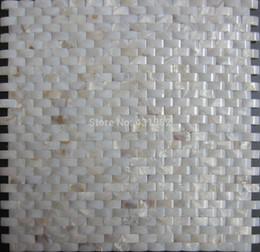 Wholesale Home Improvement Bridge Shell Mosaic Tile Backsplash Decorative river shell Mother Of Pearl Mosaic Tile Kitchen Bathroom Floor