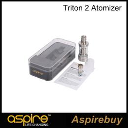 Wholesale Authen Aspire Triton Tank Kit ML Aspire Triton RBA Atomizer Drip Tips Airflow Control Ecigarette Aspire Triton Clearomizer RTA System