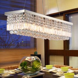 cheap fixtures creative minimalist restaurant chandelier rectangular dining room table lamp led bar lights modern crystal lighting cheap modern lighting fixtures