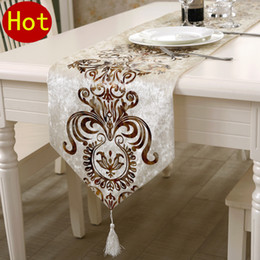 Wholesale 2015 Geometric Woven Home Hotel New Top Fashion Table Runner Neoclassical Luxury Coffee Cloth Tablecloths Bed End Towel Specials