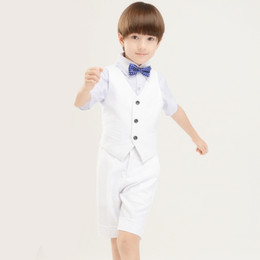 Boys Formal Wear Kid Suits Children Wedding Suit Boys Evening Suits Groom Tuxedos 4 PCS