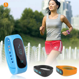 Wholesale 10PCS E02 Sport bluetooth bracelet smart watch healthy Silicone Wristband Time Caller ID alarm Pedometer Sleep Monitor for IOS Android