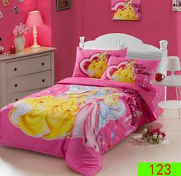 Wholesale Snow White Adult Cartoon - Free shipping Snow White Princess 3 pcs Children bed linen Cotton 3Pcs Bedding Set Bedclothes Sets Duvet Cover Quilt Cover Pillowcase Sheets