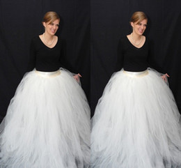 Ball Gown Tulle White Skirts Sweep Train Long Women Dresses With Satin Sash Free Size Tiered Ruffles Tutu Party Dresses For Girl