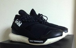 Wholesale 2016 black and white men running shoes Y Men s leather sneakers QASA coach boots