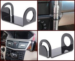 Acrylic e cig display standing box shelf black white color car holder stand rack for vape mech mod 18650 mechanical ecig ego e-cigarette DHL