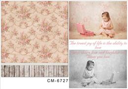 Promotion bébé toiles de fond la photographie de vinyle 5x6.5FT Personnalisé Bébé Nouveau-nés Photo Studio Fond Photographie Backdrops Photographie Vinyl Dossiers Pour Photographie Enfants