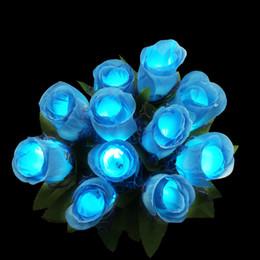 Beautiful LED Rose Flower Colorful PVC Glowing Light Fluorescence Rose Festive Art Decoration HOT Sale SD439