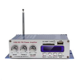 El jugador del sd para la televisión en Línea-5pcs / lot HY-400 12V Digital Soporte Pantalla Amplificador dvd de tarjetas USB / SD coche de entrada con CEC_827 Control Remoto