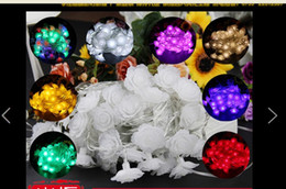 10M 60 LED lights flash lamp set seven ball lamp lanterns waterproof outdoor Christmas lights flower rose