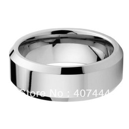 Wholesale band Cheap Price USA Brazil Russia Hot Sales mm Hign Polish Beveled Edge Tungsten Carbide Ring New Men s Wedding Band