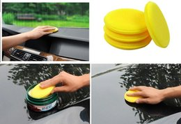 Wholesale good quality Yellow round Car Auto Washing Cleaning Sponge Block auto wash cleaner automobile accessory
