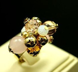 3 pcs crystal diamond pearl lady's ring all size (88)