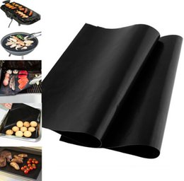 Wholesale BBQ Grill Mat Reusable Non stick Surface BBQ Grill Mat Sheet Portable Easy Clean OutDoor pack