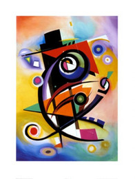 Wholesale Abstract oil painting for room Homage to Kandinsky hand painted on linen Alfred Gockel painting