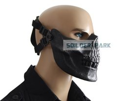 Wholesale Airsoft Tactical MO3 Cacique Soldiers Protection Skeleton Face Mask Protective Durable Training Mask Color HS
