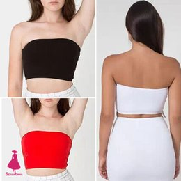 Wholesale Sexy Woman Summer American Apparel Backless Hollow Out Crop Tees For Tube Tops Girls Underwear Midriff baring Bras Cross