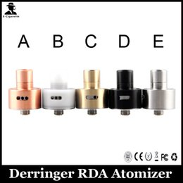 Wholesale Derringer RDA Atomizer E Cigarette Clone Derringer RDA Air Flow Control Value DIY Wire RDA Unique Pole Coiling System Atomizer