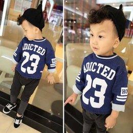 Wholesale Boys T Shirts Korean Long Sleeve T Shirt Children Clothes Kids Clothing Autumn T Shirt Cotton Shirts Kids Tshirt Boy Best Shirts C13615
