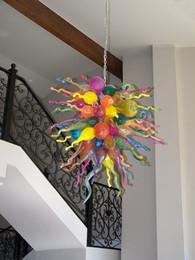 100% Mouth Blown CE UL Borosilicate Murano Glass Dale Chihuly Art Rainbow Glass Lighting Pendants Glass
