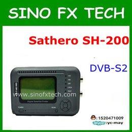 la nave libre sathero sh-200HD USB2.0 DVB-S / S2 Buscador de satélite de alta definición analizador de espectro digital Sathero SH medidor digital 200HD desde buscador hd sathero proveedores