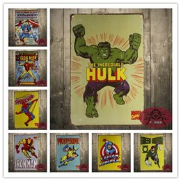 Wholesale Comic Book Cover wall art TIN SIGN metal poster vtg superhero home decor