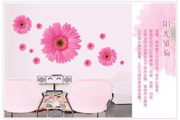 Wholesale Units Daisy flower vinyl wall stickers D room decor bedroom window wall decals D Sticker to the kitchen door home decoration