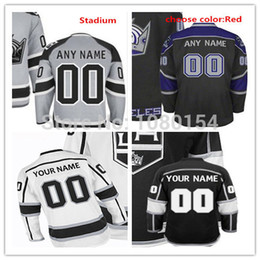 2017 série de hockey Factory Outlet, personnaliser LA Kings Team Maillots de hockey sur glace White Black Stitched Los Angeles Kings personnalisé Gray Stadium Series Hockey Jersey / S série de hockey à vendre